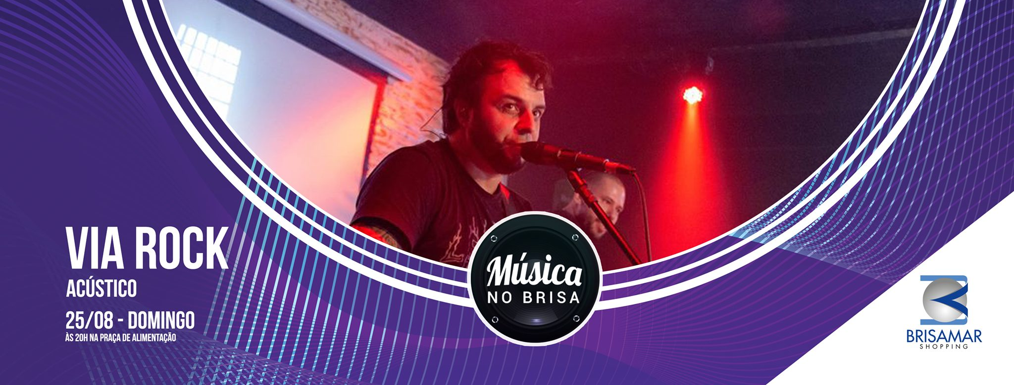 Show da banda Via Rock no próximo domingo